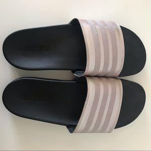 Women's Adilette Comfort Slide Sandal Pink Glitter